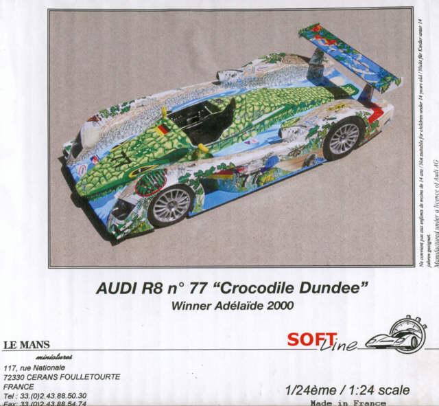 audi r8 ad laide 2000 crocodile le mans miniatures 1 24. Black Bedroom Furniture Sets. Home Design Ideas
